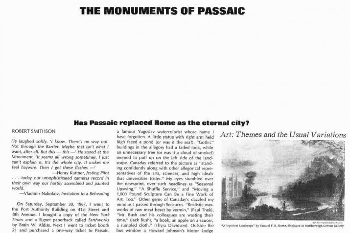 Magazine layout with title on top, text on left, and image on right.  All black and white.