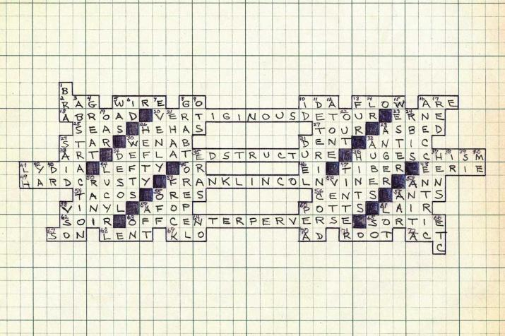 a crossword puzzle on graph paper