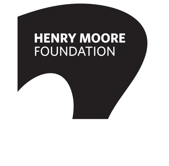 a black and white logo of a round shape for the Henry Moore Foundation